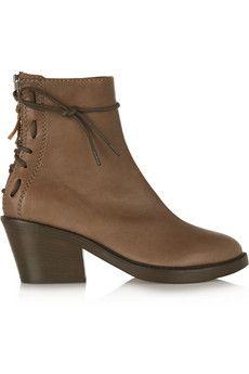Haider Ackermann Elbamatt leather boots | THE OUTNET