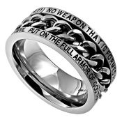 """Our All Things - Affinity Ring  is a sterling sliver (.925), high polished, twin band that connects in the back. Each side of this stunning   ring has a set of 12 cubic zirconium stones that meet in the middle.   The second part of the ring has black scripture engraving reading, """"I Can Do All Things Through CHRIST Who Is My Strength - Philippians 4:13"""".   This is a solid one piece ring that sparkles beautifully on your finger!"""