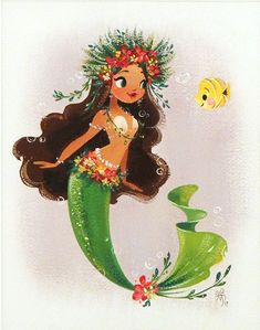 Liana Hee, Tropical - Splish Splash, Nucleus Gallery - Things that My Girls like - Fantasy Mermaids, Unicorns And Mermaids, Real Mermaids, Mermaids And Mermen, Fantasy Kunst, Fantasy Art, Mermaid Illustration, Illustration Art, Disney Designer Collection