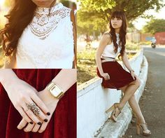 Velvet Dreams (by Kryz Uy) http://lookbook.nu/look/4753417-Velvet-Dreams-Esther-Top