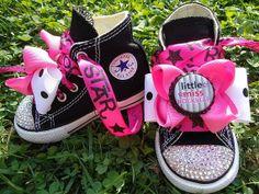Converse Baby Girly Shoes Pink Ribbon