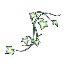 Ivy tattoo idea #2, I like how small it is. I would want this pattern repeated a couple of times to make a trailing vine effect, either on arm or leg.