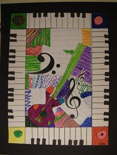 The 2nd grade students learned about the life and artwork of Romeare Bearden. They learned that he was very interested in jazz music and this influenced his art.