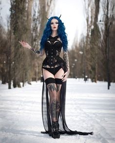 Model: BLUE ASTRID Photo: Goldfinch Underwear: Little devil's creations Corset: Ladyardzeszcorset Welcome to Gothic and Amazing |www.gothicandamazing.com