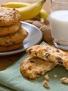 Galletas de plátano y Nueces de California #cookies