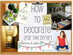 How to Decorate Series {day 20}: Decorating with Color by Tatertots and Jello
