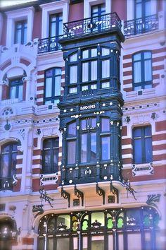 Fachada dunha Casa Modernista na Coruña
