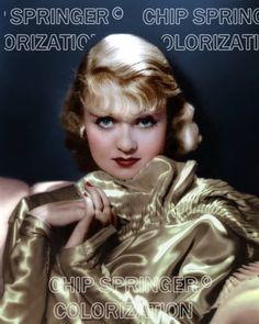 5 DAYS! 8X10 NEW CONSTANCE BENNETT IN GOLD GOWN COLOR PHOTO BY CHIP SPRINGER. Please visit my Ebay Store at http://stores.ebay.com/x5dr/_i.html?rt=nc&LH_BIN=1 to see the current listings of your favorite Stars now in glorious color! Message me if you would like me to relist your favorites.