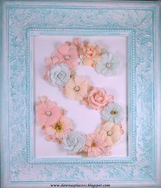 Antiqued Letter Frame - Scrapbook.com