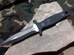 """MTech 9"""" Boot Knife Fixed Green G10 Double Edge Serrated Combat Hunting 8059GN"""