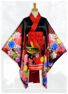 Super Sonico Summer Yukata Cosplay Costume