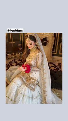 Pakistani Bridal Hairstyles, Pakistani Bridal Makeup, Pakistani Wedding Outfits, Indian Bridal, Wedding Hairstyles, Asian Bridal Dresses, Party Wear Indian Dresses, Designer Party Wear Dresses, Bridal Outfits