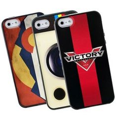 An iPhone 5 or 5S full color case is the perfect space for your logo!