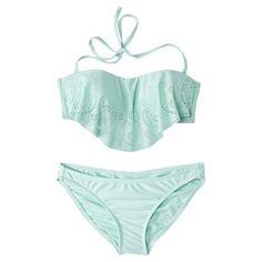 Xhilaration® Junior's Hanky 2-Piece Swimsuit -Seafoam Green