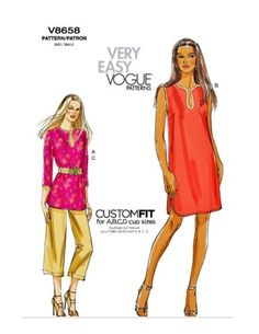 Vogue 8658 Pattern Comfy Tunic Dress or Top by harmonycollectibles