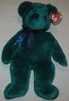 TEDDY the Green Old Face Bear - Ty Beanie Baby BUDDY (buddies) - 13 inches  tall 89e9338f9f16