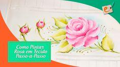 Como Pintar Rosa em Tecido - Passo a Passo