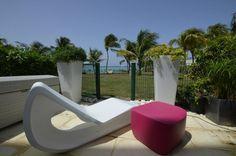 Organic lounge chair & Translation Ottoman