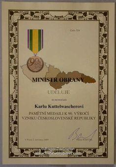 Kuttelwascher 90th Anniversary medal presentation | Free Czechoslovak Air Force