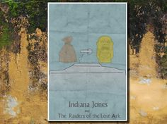 Indiana Jones movie poster retro poster movie print 11x17 Instruction Guide to The Raiders of the Lost Ark. $19.00, via Etsy.