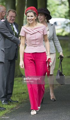 Queen Maxima of The Netherlands attends World MS Day activities on May 28, 2014 in Voorschoten, Netherlands. (Photo by Michel Porro/Getty Images)