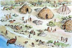 A temporary or seasonal camp for a hunter-gatherer community in Ireland during the Mesolithic