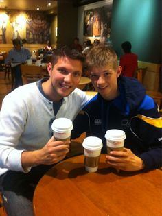 Colm and his little brother at starbucks - colm-keegan Photo