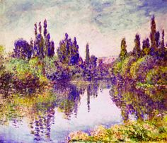 """Morning on the Seine, near Vetheuil"" ・ by Claude Monet ・ Completion Date: 1878 ・ Style: Impressionism ・ Genre: landscape Renoir, Claude Monet, Monet Paintings, Landscape Paintings, Landscapes, French Paintings, Artist Monet, Camille Pissarro, Impressionist Paintings"