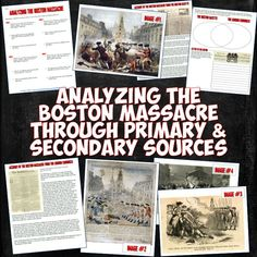 This resource on the Boston Massacre has students analyzing 4 visual depictions of the event and 2 primary source newspaper accounts for an awesome Common Core-aligned lesson!