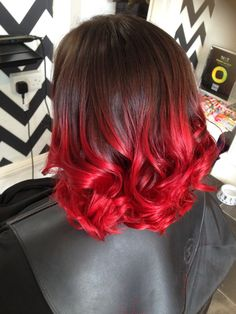 Brown and red balayage madison в 2019 г. dyed hair, balayage hair и short. Dyed Red Hair, Red Ombre Hair, Bright Red Hair, Hair Color Pink, Hair Dye Colors, Cool Hair Color, Brown To Red Ombre, Pink Brown, Balayage Hair Brunette Long