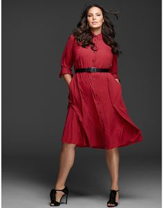 Fit & Flare Shirtdress by GLAMOUR X LANE BRYANT | Lane Bryant