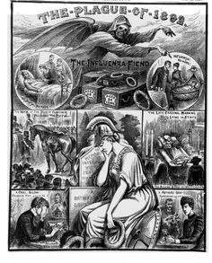 The Plague of 1892 The Influenza Fiend Illustrated Police News Police News, Victorian Illustration, Strange Events, Penny Dreadful, Regency Era, Motorcycle Art, Memento Mori, Popular Culture, Art Music