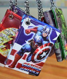 The Avengers MARVEL Hulk / Captain America / Superman/DC Wallets (12 styles)  16.99$