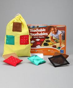 Teachable Touchables contain ten pairs of squares from scratchy to slippery.