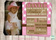 15 best brooklyn turns 5 images on pinterest birthday ideas cowgirl vintage a birthday invitation by best impressions paperie vintage cowgirl party western filmwisefo