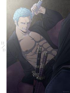 Manga Anime One Piece, Hot Anime Boy, Anime Manga, Anime Guys Shirtless, Handsome Anime Guys, One Piece Wallpaper Iphone, Kawaii Wallpaper, Zoro One Piece, One Piece Fanart
