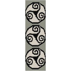 Celtic Pattern Peyote Bead Pattern, Bracelet Cuff, Bookmark, Seed Beading Pattern Miyuki Delica Size 11 Beads - PDF Instant Download Pattern is designed with Miyuki Delica seed beads size 11/0. You may change any colors and use any beads you wish. INFO FOR THIS PATTERN: Length: 7.06in (102 rows) 17.93cm Width: 2.01in (38 columns) 5.11cm Colors: 3 Technique: even peyote THIS PDF PATTERN DOWNLOAD INCLUDES: COLOR IMAGE OF THE PATTERN CUSTOM BEAD LEGEND; shows the bead color, the Miyuki ...