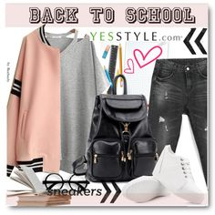 Back to School - FINAL Sale by beebeely-look on Polyvore featuring VIZZI, Fairyland, YIYA, BeiBaoBao, BackToSchool, backpack, yesstyle, back2school and productPageSectionTop