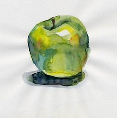 I love painting green apples, I don't like painting red ones