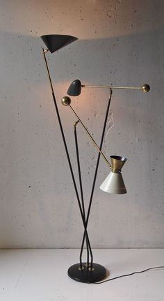 lampadaire lampada luminaire 1950 light floor lamp 50 french vintage