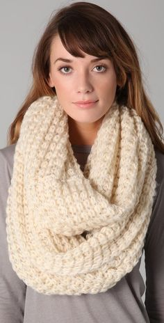 Paula Bianco Chunky Knit Wrap Scarf $105 @Shanna Miller... maybe you should start charging??? :)
