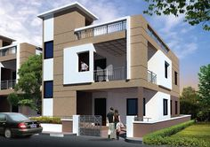 Modi Nilgiri Estate for sale,buy at Rampally, Hyderabad Single Floor House Design, Duplex House Design, House Front Design, Dream Home Design, Modern House Design, Building Elevation, House Elevation, Elevation Plan, Front Elevation