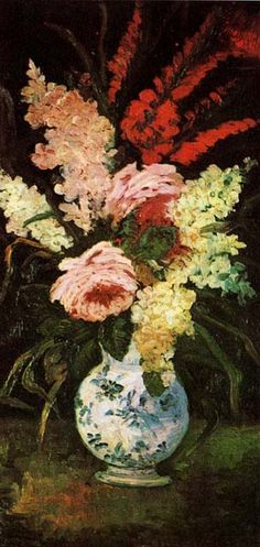 Vincent van Gogh. Vase with Gladioli and Lilac