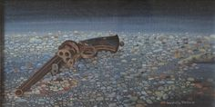 Pistola, olio su tela, 1975.