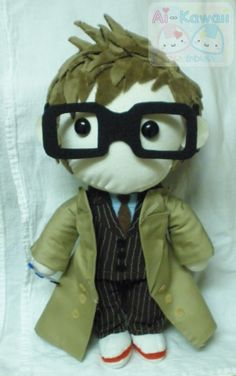Doctor Who David Tennant Plushie by LiLMoon.deviantart.com - OMG I WANT THIS!!!
