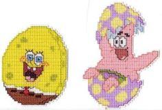 Free Plastic Canvas Magnet Patterns | Spongebob Patrick CrossStitch by ~Krissay20 on deviantART