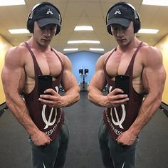 Cocky alpha muscle tank makes his skinny neighbour oil and suck 4