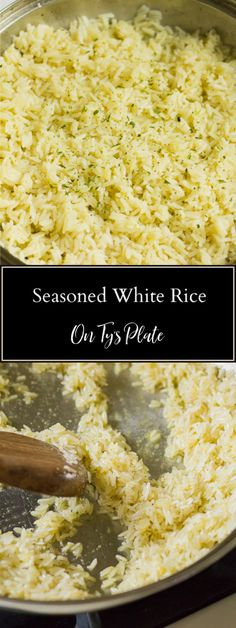 This super easy seasoned white rice side dish packs loads of flavor with pantry ingredients. You can make it on the stove top or microwave. | On Ty's Plate