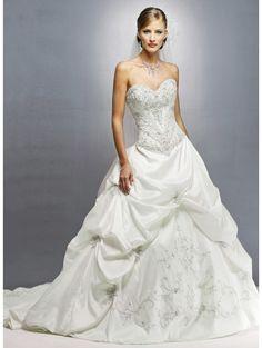 A Line Strapless sweet heart neck corset back  sparkle | ... line > Tulle Strapless Sweetheart Neckline A-line Wedding Dress