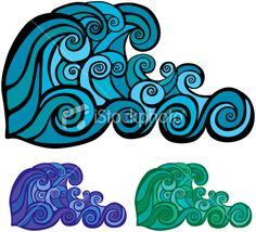 Wave pattern Royalty Free Stock Vector Art Illustration